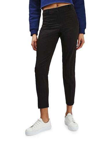 Topshop Fitted Cigarette Trouser-BLACK-UK 8/US 4