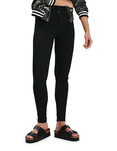 Topshop MOTO Joni Jeans 32-Inch Leg-BLACK-28X32
