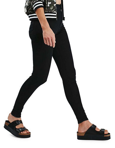 Topshop MOTO Joni Jeans 34-Inch Leg-BLACK-28X34