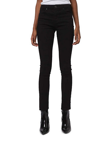Topshop MOTO Leigh Skinny Jeans 32-Inch Leg-BLACK-25X32