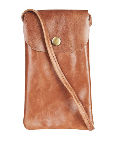 Topshop Leather Sunglasses Case-TAN-One Size