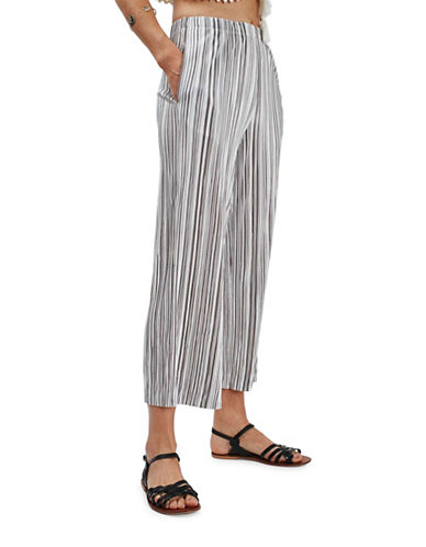 Topshop Striped Pleat Trousers-SILVER-UK 12/US 8 88588947_SILVER_UK 12/US 8
