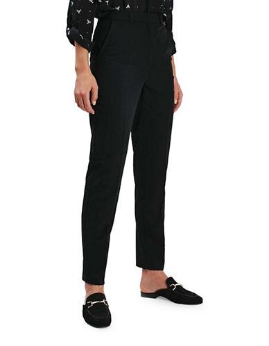 Topshop TALL Cora Cigarette Trousers-BLACK-UK 8/US 4