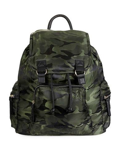 Topshop Camouflage Nylon Backpack-KHAKI-One Size