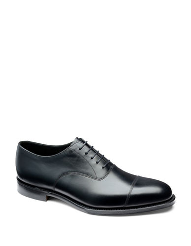 Loake Aldwych Calfskin Cap Toe Oxfords-BLACK-UK 9.5/US 10.5