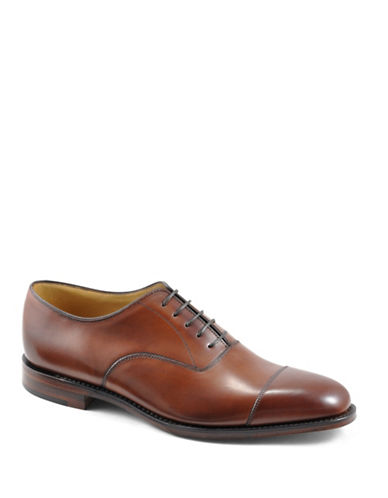 Loake Aldwych Calfskin Cap Toe Oxfords-MAHOGANY-UK 9/US 10