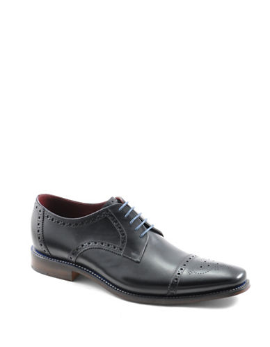 Loake Foley Cap Toe Brogue Oxfords-BLACK-UK 10/US 11