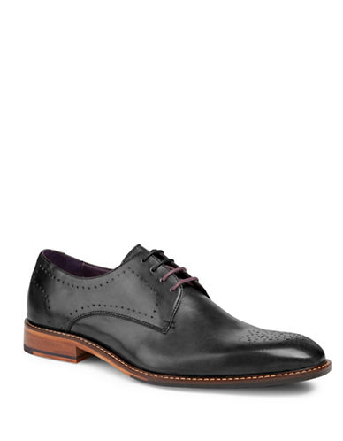 Ted Baker London Marar Punched Derby Shoes-BLACK-6