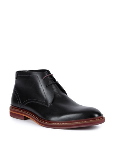 Ted Baker London Azzlan Leather Chukka Boots-BLACK-UK 11/US 12