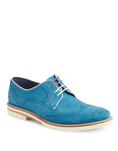 Ted Baker London Archerr Suede Wingtip Oxfords-BLUE-6