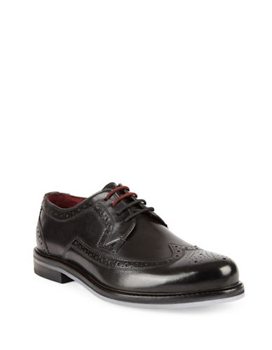 Ted Baker London Ttanum Brogue Leather Derbys-BLACK-UK 9/US 10