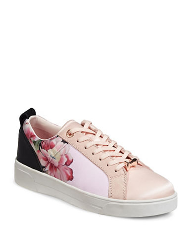 Ted Baker London Womens Fushar Floral and Suede Sneakers with Bow Lace-Keeper-POSIE-8