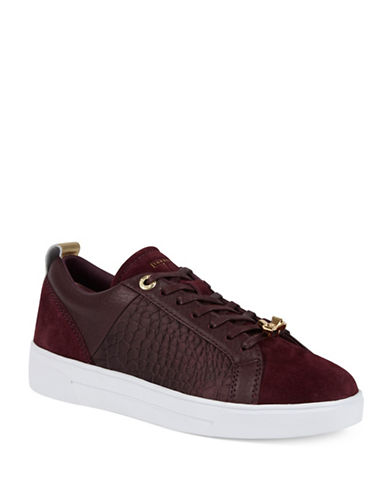Ted Baker London Kulei Leather Sneakers-PURPLE-5