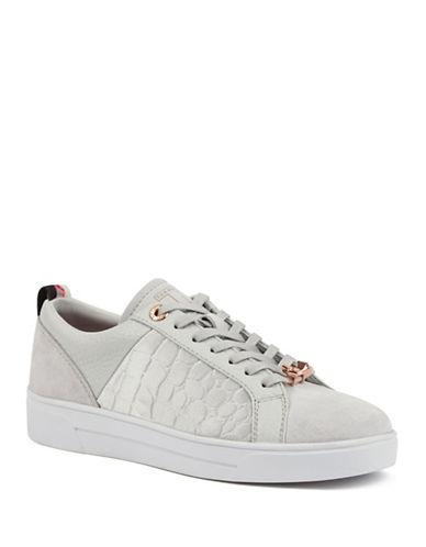 Ted Baker London Kulei Leather Sneakers-DARK GREY-9