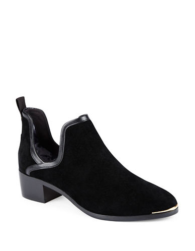 Ted Baker London Twillo Suede Ankle Boots-BLACK-5