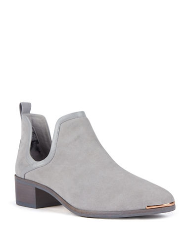 Ted Baker London Twillo Cut-Out Leather Ankle Boots-GREY-9