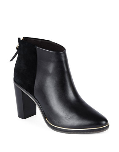 Ted Baker London Azaila Leather-Suede Ankle Boots-BLACK-5