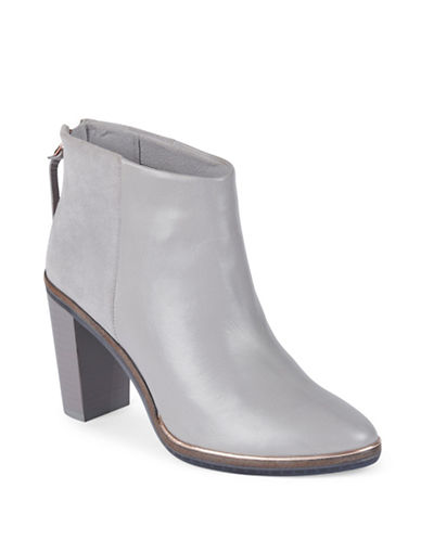 Ted Baker London Azaila Leather and Suede Ankle Boots-GREY-6