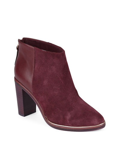 Ted Baker London Azaila Leather-Suede Ankle Boots-RED-10