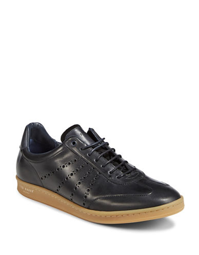 Ted Baker London Orlee Leather Sneakers-BLACK-UK 6/US 7