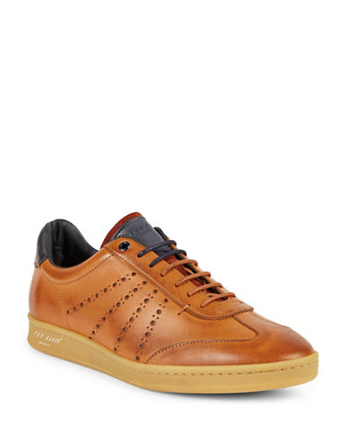 Ted Baker London Orlee Leather Brogues-BROWN-UK 6/US 7