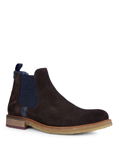 Ted Baker London Bronzo Suede Chelsea Boots-BROWN-UK 11/US 12