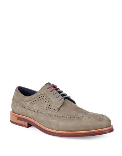 Ted Baker London Fanngo Brogue Nubuck Derbys-GREY-UK 7/US 8