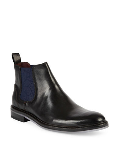 Ted Baker London Zilpha Leather Chelsea Boots-BLACK-UK 9/US 10