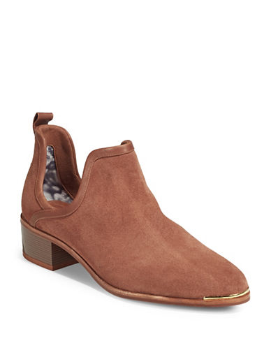 Ted Baker London Twillo Cut-Out Suede Ankle Boots-TAN-6