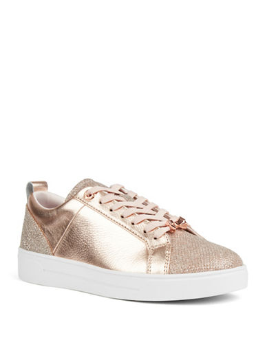Ted Baker London Leather Low-Top Sneakers-ROSE GOLD-UK 4/US 6