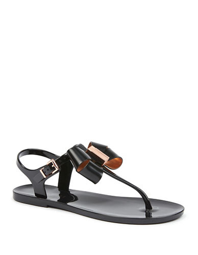 Ted Baker London Camaril Jelly Thong Sandals-BLACK-UK 6/US 8