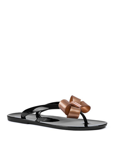 Ted Baker London Suszie Jelly Flip-Flops-BLACK-UK 8/US 10
