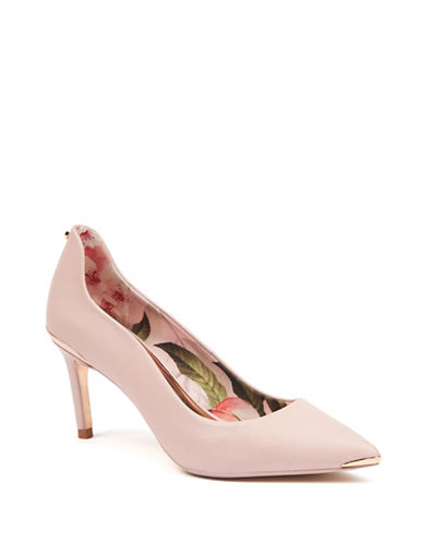 Ted Baker London Mid Heel Satin Pumps-BLOSSOM-UK 7.5/US 9.5