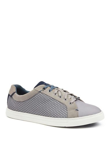 Ted Baker London Sarpio Textile Suede Sneakers-GREY-UK 9/US 10