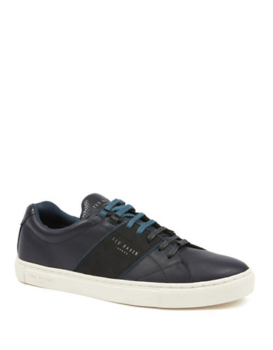 Ted Baker London Quana Leather Sneakers-NAVY-UK 9.5/US 10.5