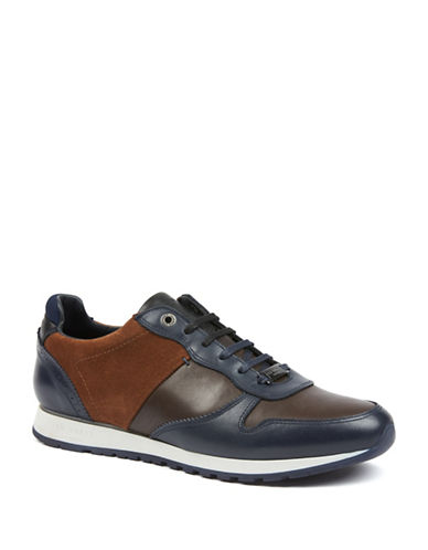 Ted Baker London Shindl Leather Sneakers-BLUE-UK 9/US 10