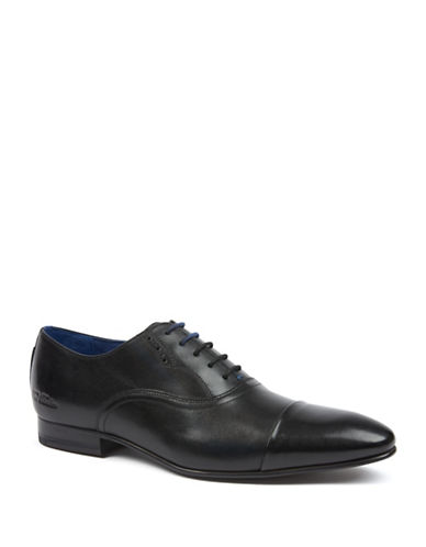 Ted Baker London Murain Leather Cap Toe Oxfords-BLACK-UK 9/US 10