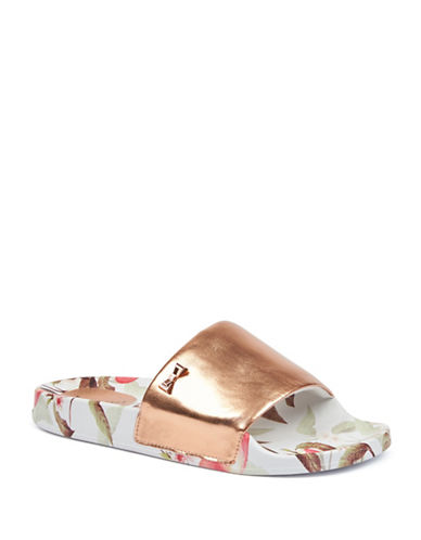 Ted Baker London Aveline Printed Slides-PEACH-UK 6/US 8
