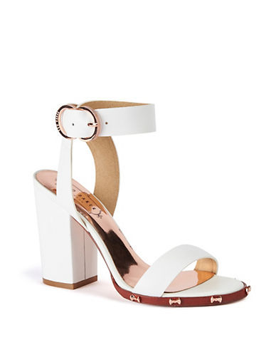Lylea Leather Ankle Strap Sandals by Ted Baker London