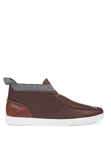 Boxfresh Culvert Leather Chukka Sneakers-TOFFEE-7