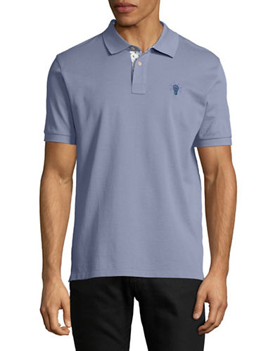 Ps By Paul Smith Regular-Fit Jacquard Striped Cotton Polo-GREY-Medium