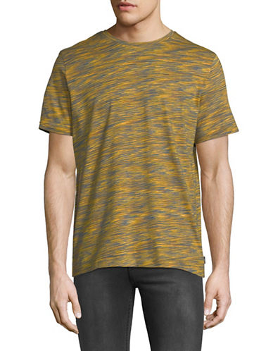 Ps By Paul Smith Space Dyed Short Sleeve T-Shirt-YELLOW-Large