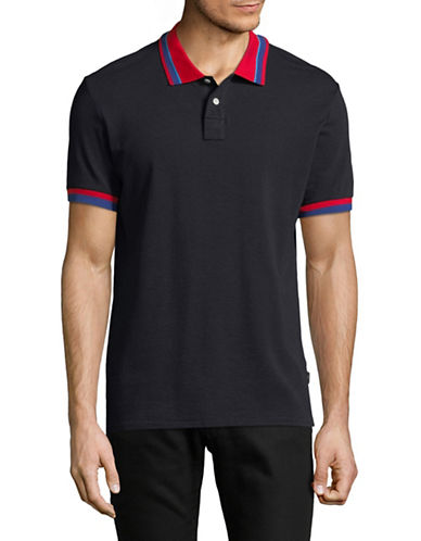 Ps By Paul Smith Regular-Fit Jacquard Striped Cotton Polo-BLUE-Small