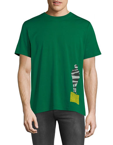 Ps By Paul Smith Graphic Short Sleeve T-shirt-GREEN-Large
