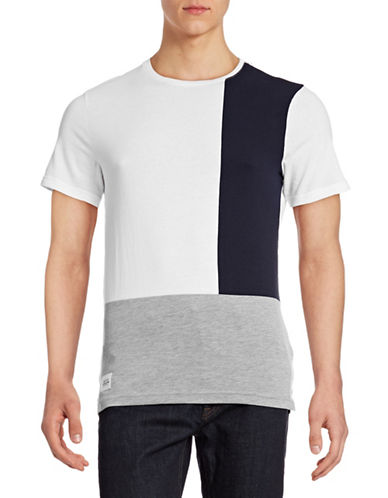 Native Youth Colourblock Panel T-Shirt-WHITE-X-Large 88381144_WHITE_X-Large