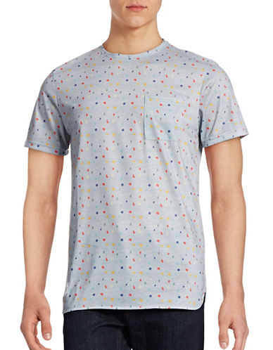 Native Youth Polka Print Pocket Tee-GREY-Medium