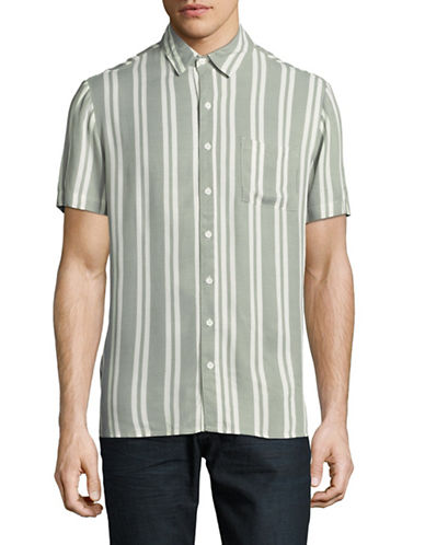 Native Youth Tunstall Striped Shirt-GREY-X-Large