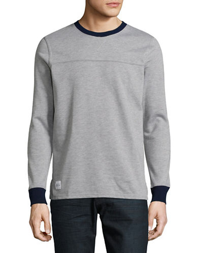 Native Youth Avon Crew Neck Top-GREY-Large