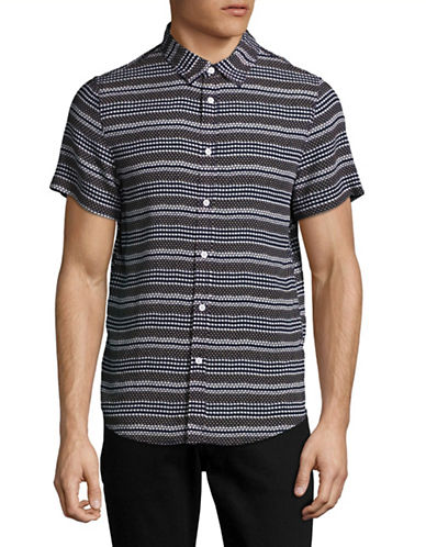 Native Youth Clovelly Printed Sport Shirt-NAVY-Small
