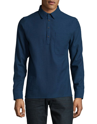 Native Youth Golborne Cotton Sport Shirt-BLUE-X-Large